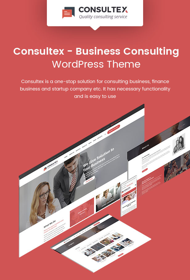 Consultex – Business Consulting WordPress - 1