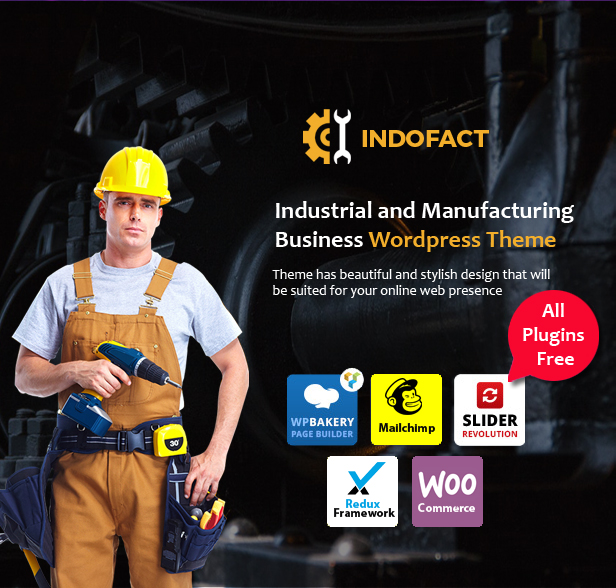 Indofact - Industry and factory WordPress Theme - 1