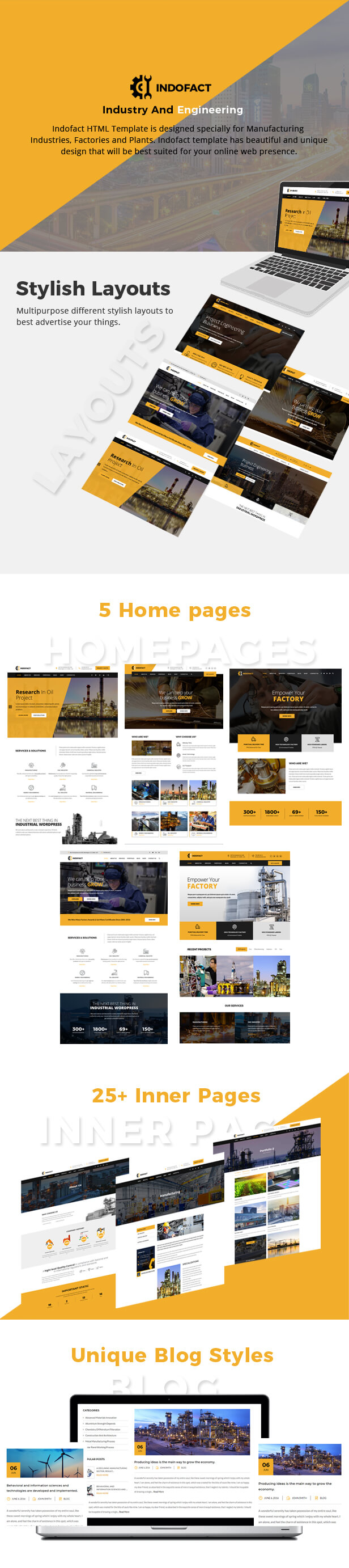 Indofact - Industry, Factory and Engineering HTML 5 Template - 1